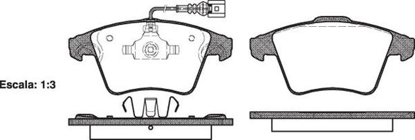FRONT DISC BRAKE PADS - AUDI / VW TRANSPORTER T5 03-