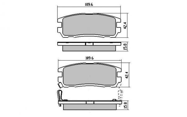 DB1280 E REAR DISC BRAKE PADS - ISUZU TROOPER 92-95