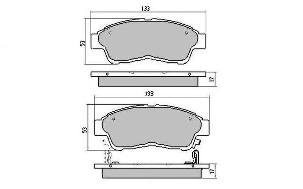 FRONT DISC BRAKE PADS - TOYOTA CAMRY SXV20 98-02 DB1267 E