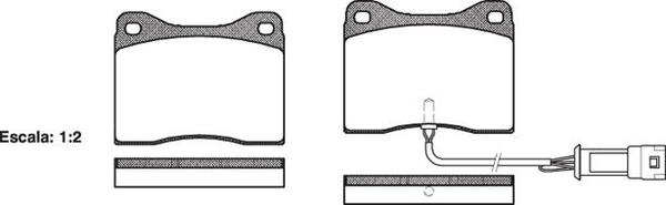 FDB399 E FRONT DISC BRAKE PADS - FORD SIERRA RS500 COSWORTH