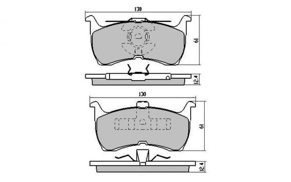 FRONT DISC BRAKE PADS - FORD FALCON EA,EB ED 88-96 DB1109 E
