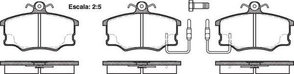FDB410 E FRONT DISC BRAKE PADS - FIAT CROMA 85-