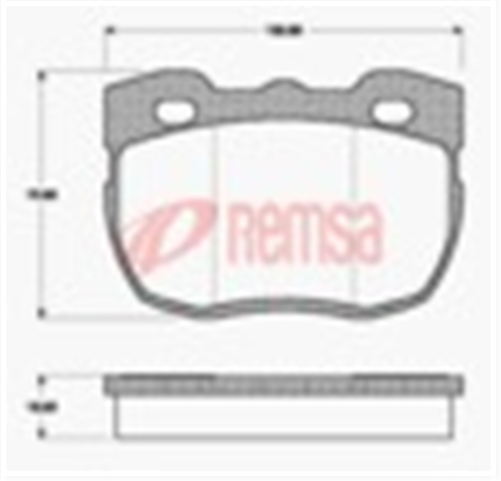FRONT DISC BRAKE PADS - LAND 90 SERIES 88-92 DB1176 W