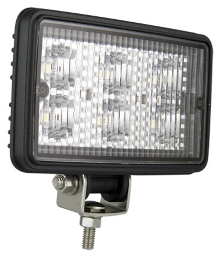 LED WRK LAMP BLK HOUSING 12/24V