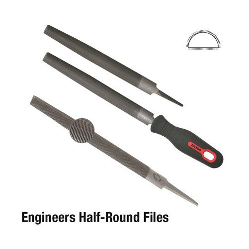 Half Round File Second Cut - 250mm