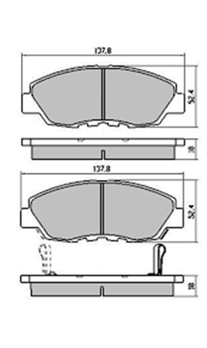 FRONT DISC BRAKE PADS - HONDA ACCORD CE1, CRV DB1191 UC
