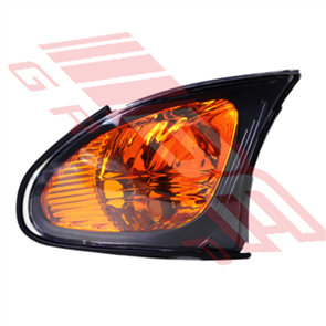 CORNER LAMP - L/H - BLACK SURROUND - AMBER - BMW 3'S E46 4D 2001