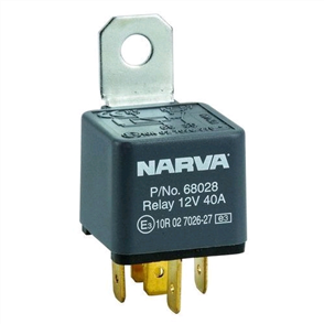 RELAY 12V 5 PIN 40A DIODE