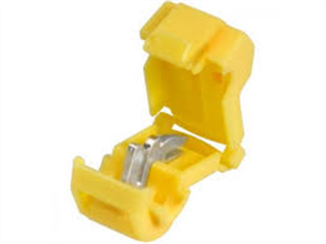 CONNECTORS T-TAP YELLOW 6.3MM