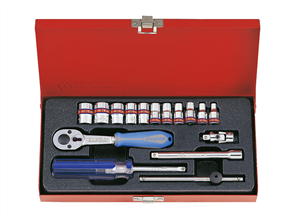 KING TONY 16PC 1/4DR IMPERIAL SOCKET SET