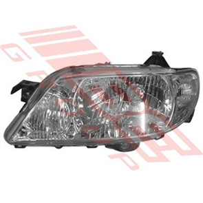 HEADLAMP - L/H - MANUAL - MAZDA 323/PROTEGE BJ 2001- FACELIFT