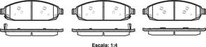 FRONT DISC BRAKE PADS - JEEP COMMANDER,GRAND CHEROKEE  05-