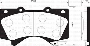 DB1838 E FRONT DISC BRAKE PADS - TOYOTA LAND CRUISER 200 SER 07-