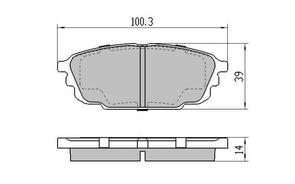 DB1359 E REAR DISC BRAKE PADS - FORD / MAZDA 323 BJ 98-03