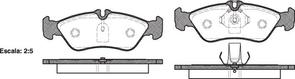 FDB1045 E REAR DISC BRAKE PADS - MERCEDES BENZ SPRINTER 95-