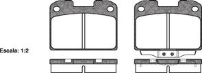 REAR DISC BRAKE PADS - MITSUBISHI GTO  92- DB941 E