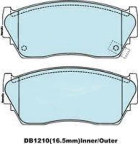 DB1210 E FRONT DISC BRAKE PADS - NISSAN SENTRA 91-94