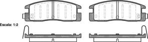 AD448 E REAR DISC BRAKE PADS - ISUZU TROOPER 89-