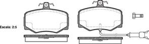 DB1225 E FRONT DISC BRAKE PADS - JAGUAR XJ6 3.6,4.0L 88-89