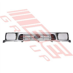 GRILLE - PAINTED SILVER/BLACK - TOYOTA HILUX 2WD 1999-01