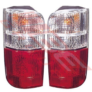 REAR LAMP - SET - L&R - CLEAR/RED - TOYOTA HIACE 1990