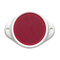 Red Retro Reflector 80mm dia. in Plastic Holder with Dual Fixing Holes