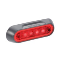 10-30 Volt L.E.D Rear End Outline Marker Lamp (Red) with Grey Deflector Base and 0.5m Cable