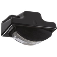 12 Volt Sealed Licence Plate Lamp Kit in High Impact Plastic Housing (Black Body)