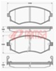 FRONT DISC BRAKE PADS - NISSAN SERENA C23 92-96 DB1263 E