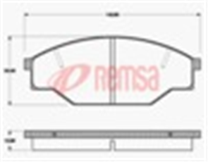 FRONT DISC BRAKE PADS - TOYOTA HILUX YN55,57,58 83-89