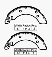 BRAKE SHOES FORD CAPRI MK3 R 78-