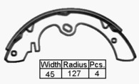 BRAKE SHOES - NISSAN 720 UTE