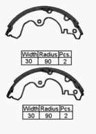BRAKE SHOE REAR - TOYOTA TERCEL 82-88     180 x 30mm