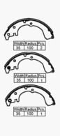 BRAKE SHOES - TOYOTA COROLLA AE95 4WD R 87-