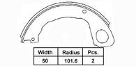 AUTOSTAR BRAKE SHOE H ISUZU ELF 03-       203 X 50MM