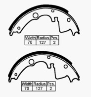 BRAKE SHOES BED CF- FORD TRANSIT