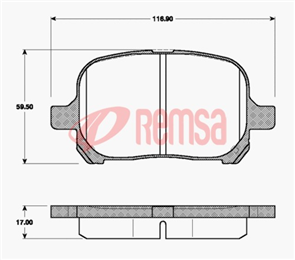 DB1345 E FRONT DISC BRAKE PADS - TOYOTA CAMRY MCV20 99-02