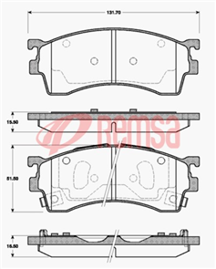DB1362 UC FRONT DISC BRAKE PADS - FORD / MAZDA 323 BJ 98-04
