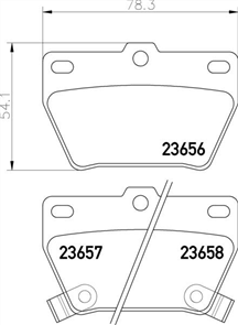 REAR BRAKE PADS - TOYOTA RAV 4 ACA2#03-16