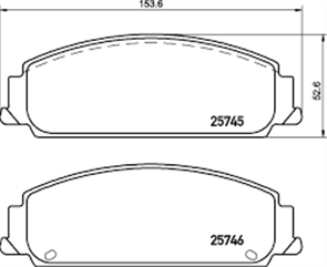 FRONT DISC BRAKE PADS - HOLDEN COMMODORE VE 06-