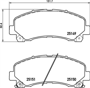 DB1841 E FRONT DISC BRAKE PADS - HOLDEN COLORADO 08-