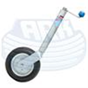 JOCKEY WHEEL N/CLAMP 10 INCH SOLID RUBBER WHEEL 350kg