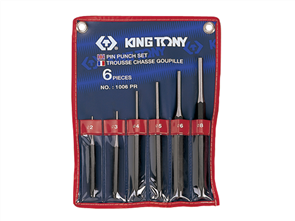 KING TONY 6PC PIN PUNCH SET