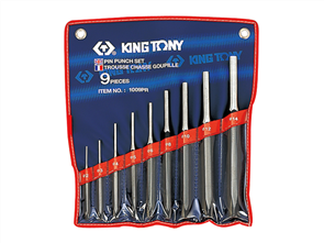KING TONY 9PC PIN PUNCH SET