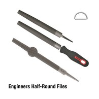 Half Round File Smooth - 150mm 12 Pk