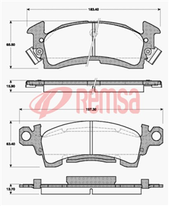 FRONT DISC BRAKE PADS - JEEP CJ5,CHEROKEE 80-86