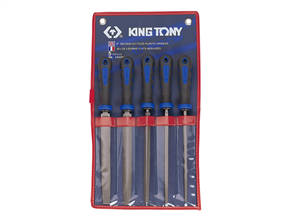 KING TONY 5PC 8IN SECOND CUT FILE SET