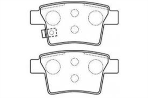 REAR DISC BRAKE PADS - FORD MONDEO III 01-05
