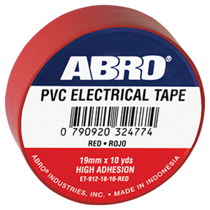 ABRO ELECTRICAL TAPE .12mmx18mmx10yds RED
