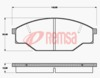 FRONT DISC BRAKE PADS - TOYOTA HILUX YN55,57,58 83-89 DB318 E